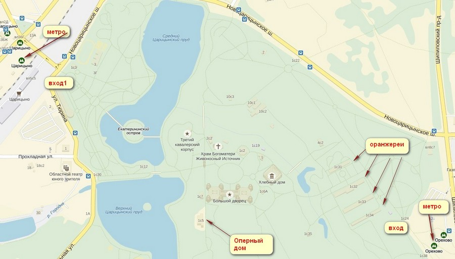 Царицыно карта-схема_