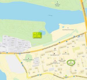 Братеевский парк на карте