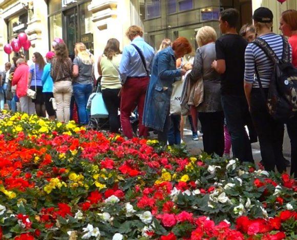 Цветы и мороженое в ГУМе - видео