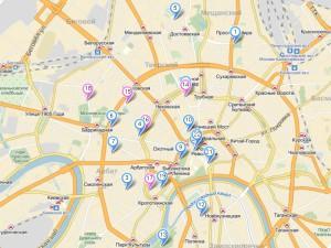 Музейная карта - схема